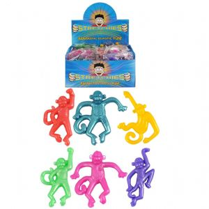 Stretchy Monkeys - Stretchies Party Bag Fillers Favours Toys - Assorted Colours